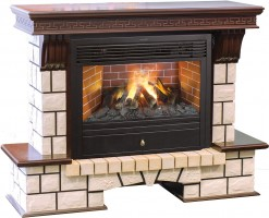 3D комплект Real Flame Stone New 26 с очагом 3D Novara 26