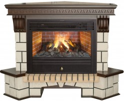 3D комплект Real Flame Stone New Corner 26 с очагом 3D Novara 26