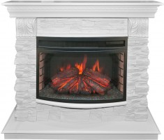 Каминокомплект Real Flame Elford LUX 25 WT с очагом Firefield 25 S IR