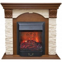 Real-Flame Dublin LUX STD/EUG AO с очагом Fobos s Lux BL/BR, Majestic s Lux BL/BR